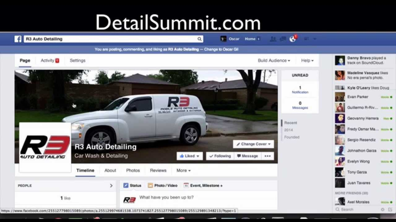 Facebook Business Page For Your Car Detailing Company