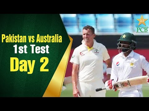 Pakistan Vs Australia In UAE 2018 1st Test Day 2 Full Highlights