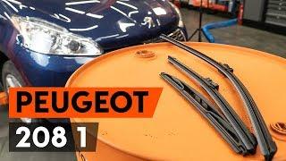 Montáž predné a zadné Stieracia liżta PEUGEOT 208: video zadarmo