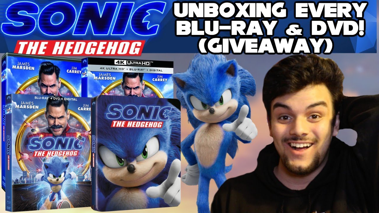 Unboxing Every Sonic The Hedgehog Movie 2020 Dvd Blu Ray