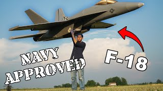 Making a GIANT F-18 with a real JET TURBINE | Sailor VS | U.S. Navy
