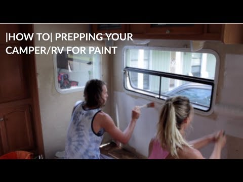 RV/CAMPER REMODEL |HOW TO| PAINT OVER WALLPAPER AND REMOVE BORDER-BECOMING FULL TIME RV'ers