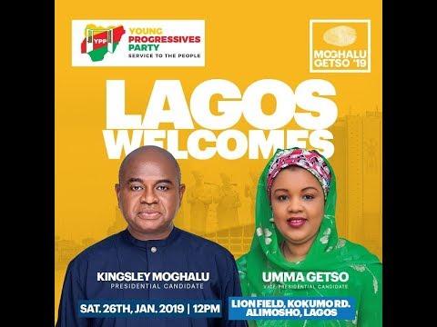 Professor Kingsley Moghalu at Lagos Island Campaign Rally