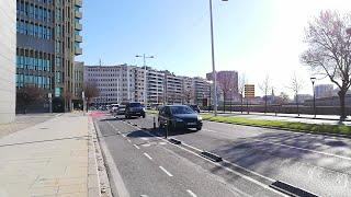 Manifestación de vehículos en Pamplona en contra de la 'Ley Celaá'