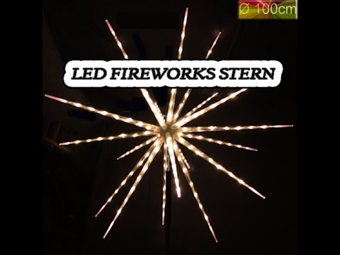 firework stern feuerwerksstern weihnachtsstern led stern. Black Bedroom Furniture Sets. Home Design Ideas