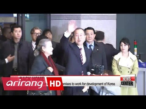 Former UN chief Ban receives warm welcome home in Korea