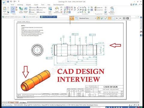 Design Engineer Interview CAD TOOL TEST