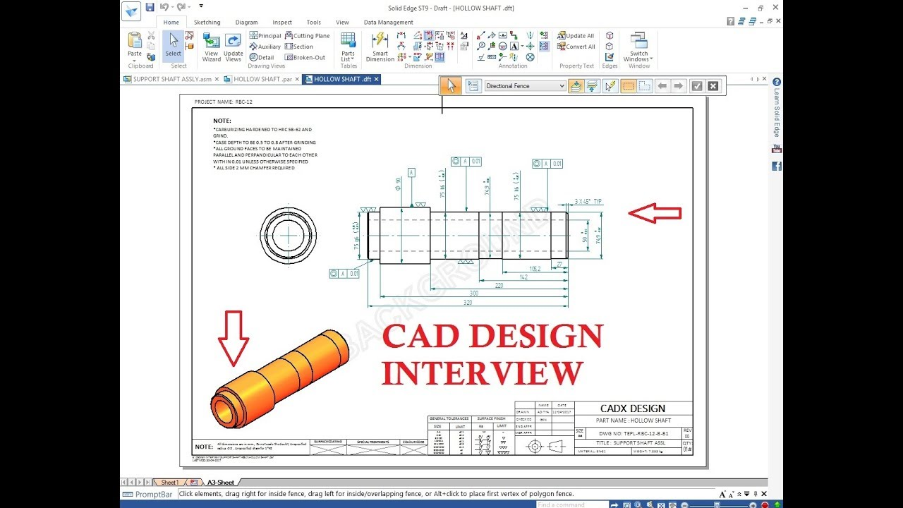 design engineer interview cad tool test youtube