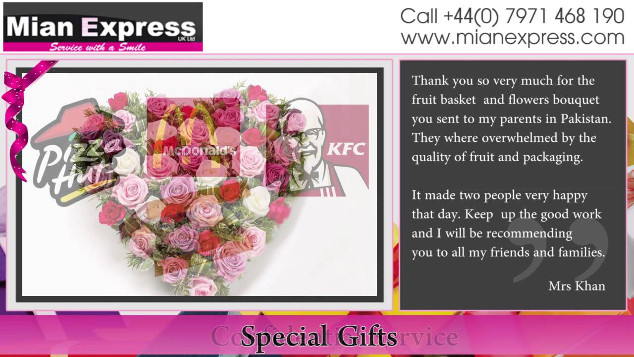 Gifts to Pakistan & Gift Courier Service Middle East