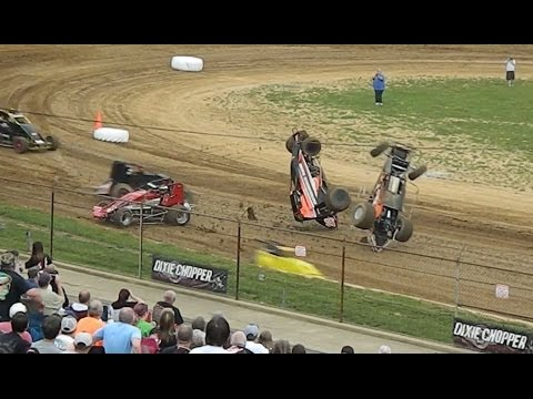 Sprint Cars At Lincoln Park Speedway Massive Crashes And Close