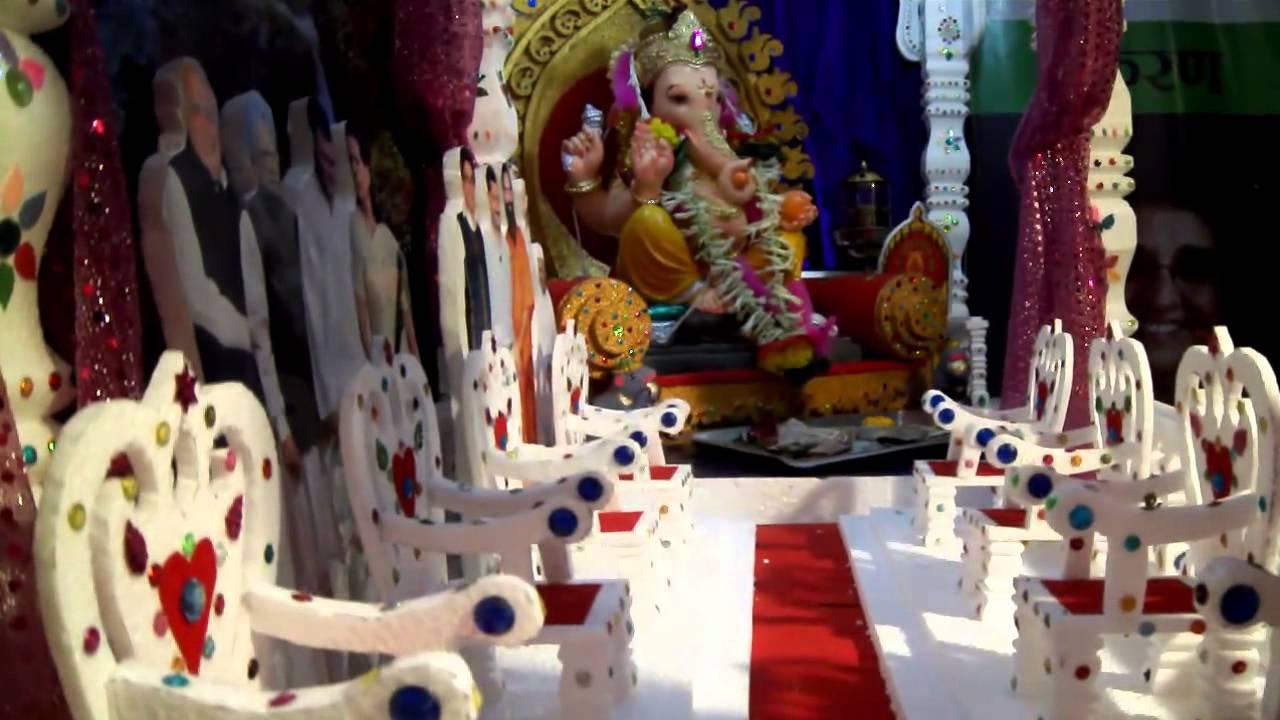 Milind Deshpande Home Ganesh Decoration 2011 Youtube