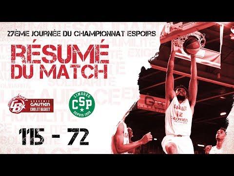U21 Académie Gautier CB - CSP Limoges : Résumé du Match 13-04-19