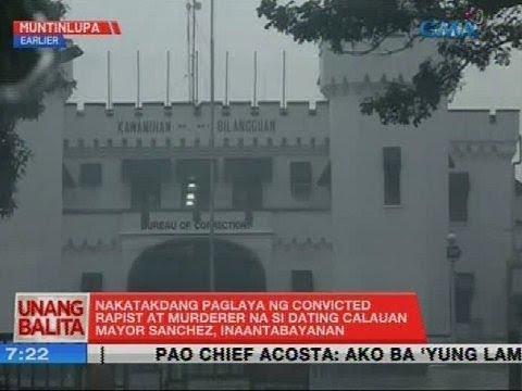 UB: Nakatakdang paglaya ng convicted rapist at murderer na si dating Calauan Mayor Sanchez...