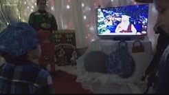 Kids at Shriner's Hospital video chat with Santa