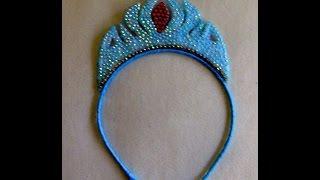 Tiara coroa da ELZA- FROZEN Passo a Passo