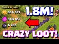 Clash Of Clans 1.8 MILLION LOOT AVAILABLE | HUGE LOOT RAID