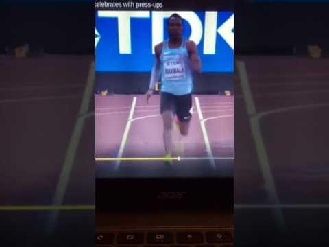 London World championship 2017 Isaac makwala run