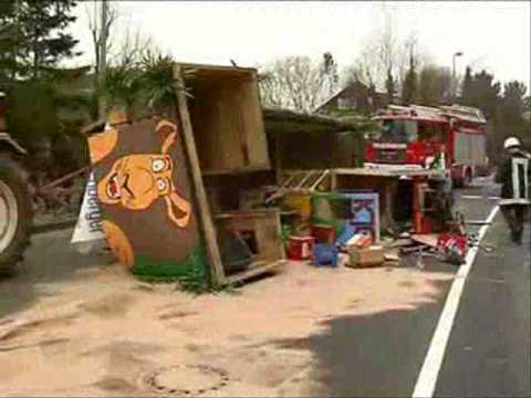 Unfall überschattet Faschingszug In Höchberg