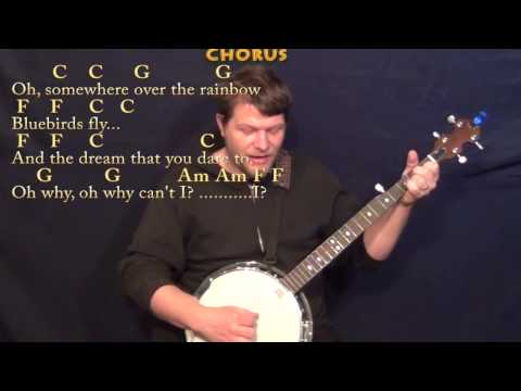 Over the Rainbow/Wonderful World - Banjo Cover Lesson with Chords ...