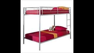 We Furniture Metal Bunk Bed, Twin, Silver