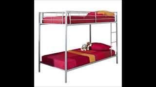 We Furniture Metal Bunk Bed, Twin, Silver