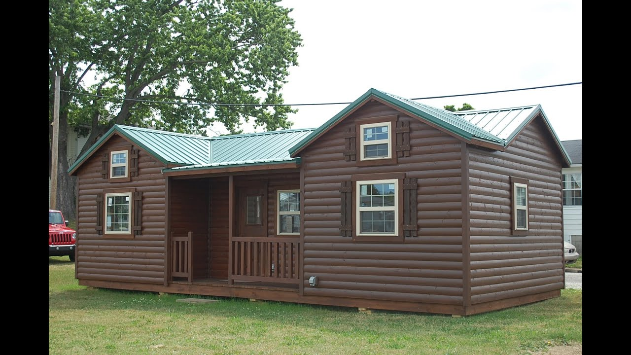 14 39 x32 39 cumberland deluxe cabin doovi for Log barn homes