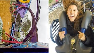 Tidal Twister Roller Coaster? Front Seat Onride POV & RiderCam! SeaWorld San Diego