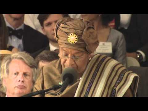 Ellen Johnson Sirleaf at Harvard Commencement
