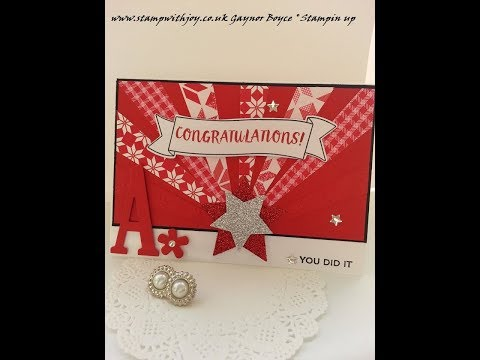 Starburst Congrats card using stampin up products