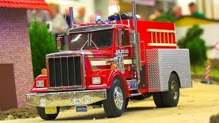GREAT RC MODEL FIRE RESCUE TRUCK ACTION IN SCALE!! RC SCANIA, RC MAN, RC MERCEDES-BENZ