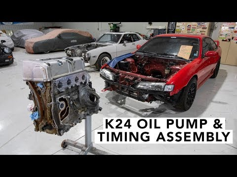 Honda K20 K24 How to Set Timing & Oil Pump Install