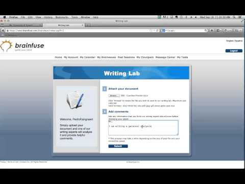 How to submit a paper to Brainfuse's Writing Lab