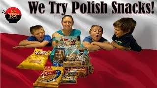 American Family reacts to Polish Snacks, Snackcrate Poland