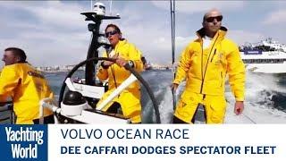 Dee Caffari dodges spectator fleet at Volvo Ocean Race start | Yachting World
