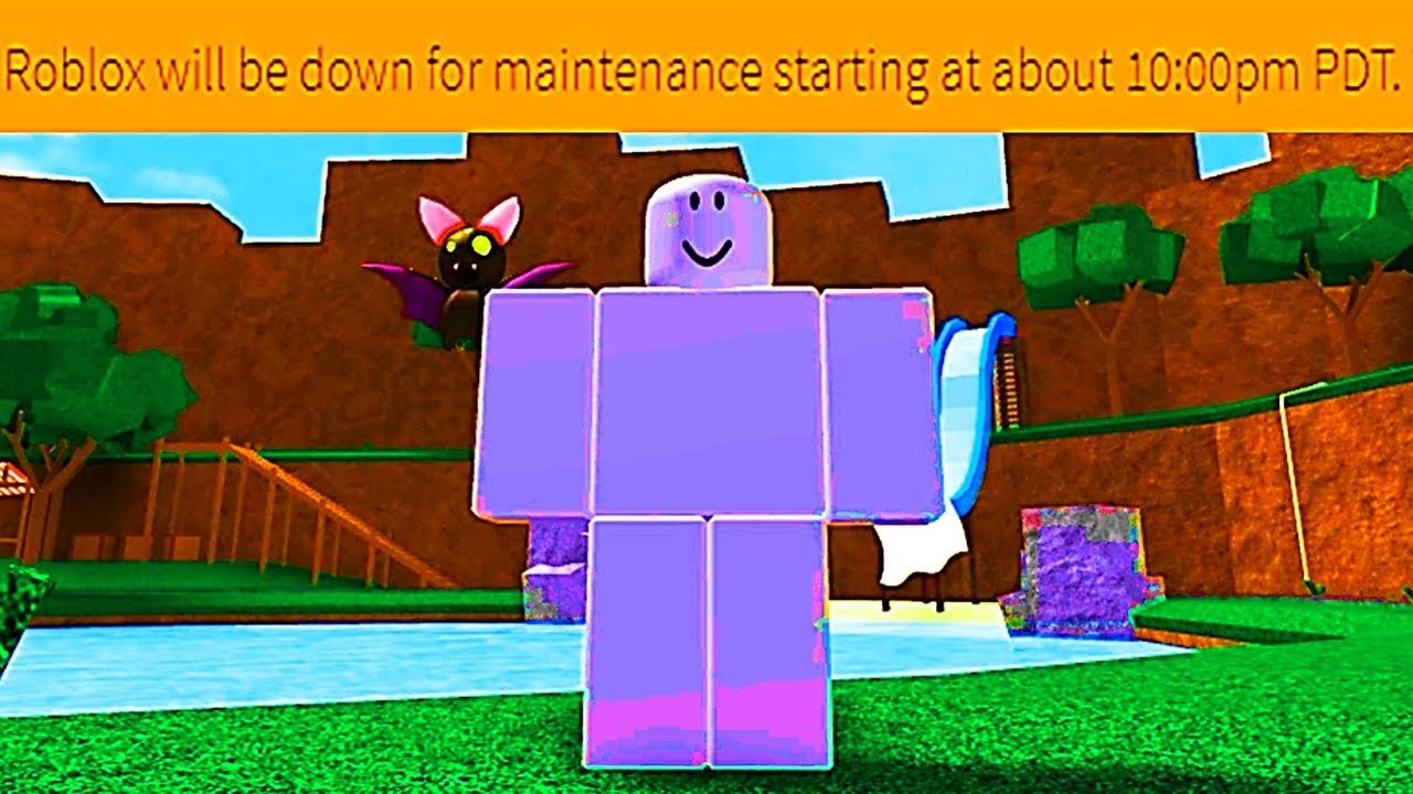 Playing Roblox While It S Shutdown For Maintenance Glitchy