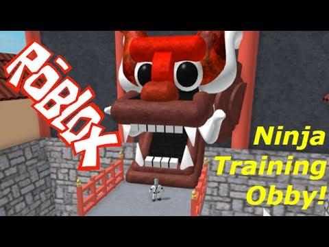 Ninja Training Obby! Сбегаем из Лагеря НИНДЗЯ в Роблокс! Детское видео Игровой мультик Let's play - Видео из Майнкрафт (Minecraft)