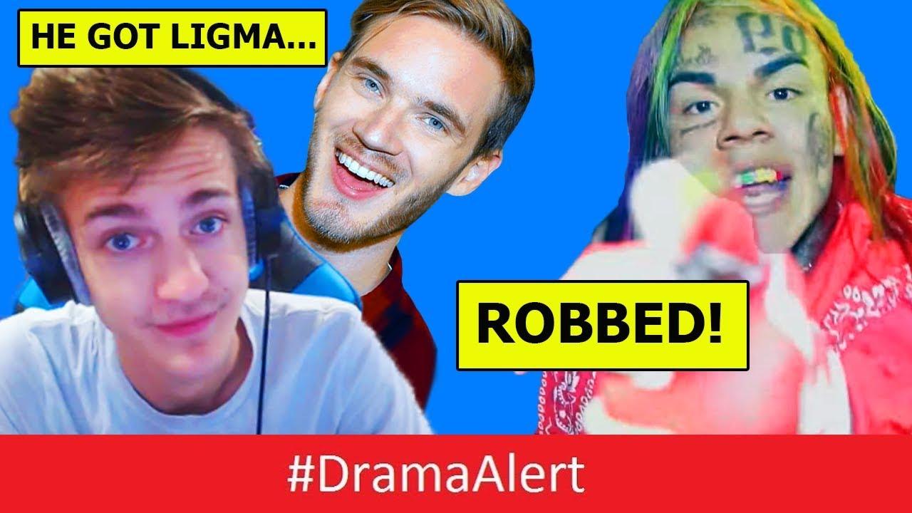 pewdiepie-reacts-to-ninja-ligma-diagnosis-dramaalert-6ix9ine-robbed-and-assaulted-deji-sued
