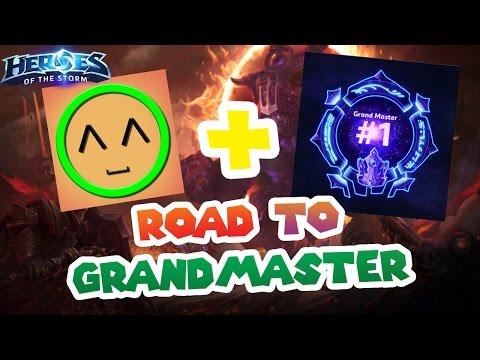 Nub + the #1 Grandmaster vs 3 Pros!!! // Heroes of the Storm // Road to Grandmaster S2 - Diamond 1