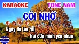 Karaoke Nhạc Sống Cõi Nhớ | Karaoke Tuấn Cò