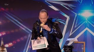 Britain's Got Talent 2020 Hakan Berg's Hilarious Magic Act Full Audition S14E06