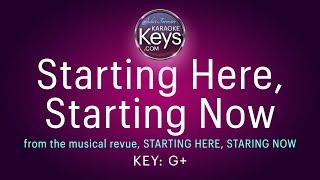 Starting Here, Starting Now  (karaoke piano)  WITH LYRICS