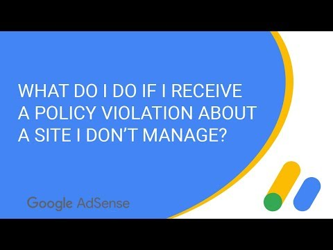 What to do if I receive a policy notification about a site I don't manage?