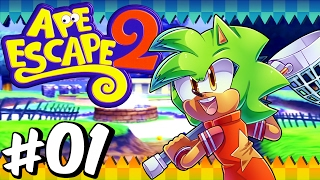 Ape Escape 2 (PS2) | Part 1 | 100% All Monkeys