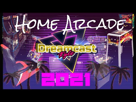 2021 HOME ARCADE/GAME ROOM TOUR: Arcade1Up, Consoles, MVSX from Dreamcast Kyle