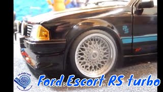 Ford escort RS turbo Modified Tuning By sunstar 1/18 scale diecast model