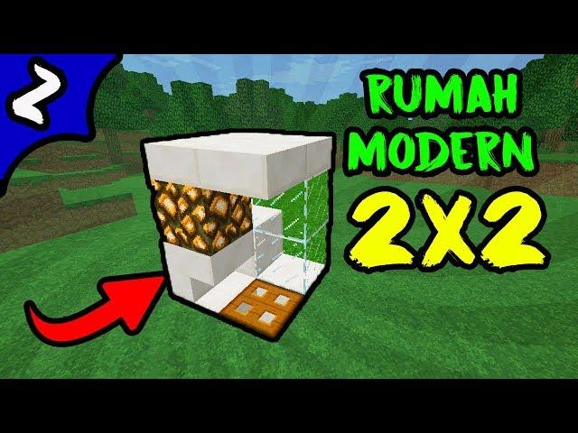 ? Minecraft: Cara membuat Rumah Modern Ukuran 2x2 !