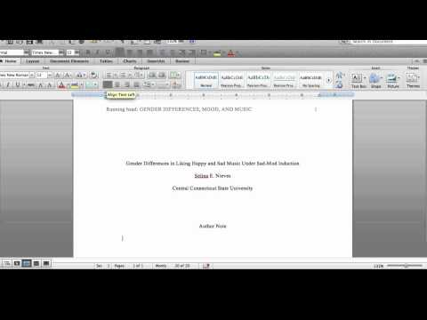 APA Format Tutorial - Title Page