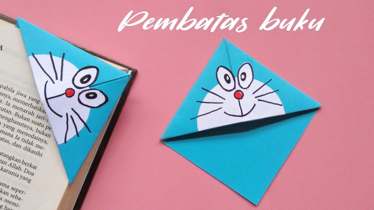 Cara Membuat Pembatas Buku Dari Kertas   Origami Bookmark
