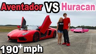 RACED OUR LAMBOS ON AN AIRPORT RUNWAY!!!