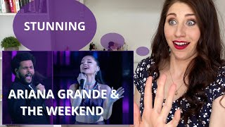 PERFORMANCE COACH reacts to Ariana Grande &The Weekend 'Save Your Tears' live